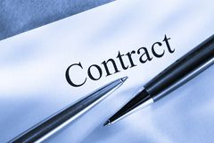 Contract conception Stock Image