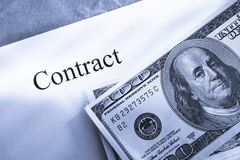 Contract conception Royalty Free Stock Photos