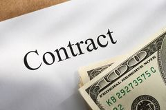 Contract conception Royalty Free Stock Images
