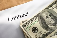 Contract conception Royalty Free Stock Photography
