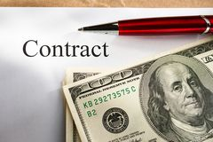 Contract conception Stock Photography