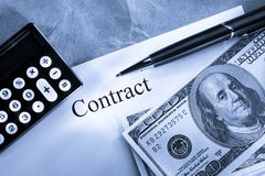 Contract conception Royalty Free Stock Photo