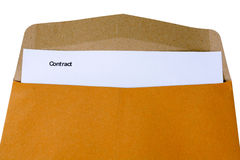 Contract, contract in folder Stock Photo