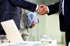 Contract of cooperation Stock Image