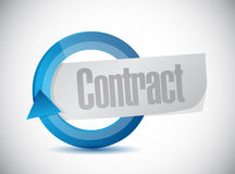 Contract cycle illustration design Stock Image