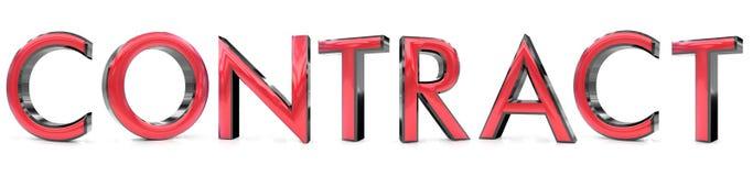 Contract 3d woord vector illustratie