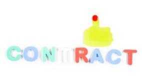 Contract dat per brieven wordt geschreven Stock Afbeeldingen