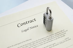 Contract data Stock Image