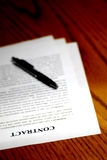 Contract on Desk Royalty Free Stock Images