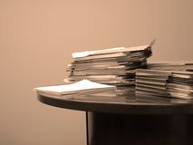 Contract on Desk Stock Image