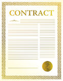 Contract document Royalty Free Stock Photography