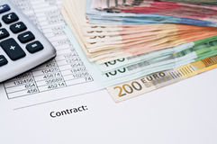 Contract document Royalty Free Stock Image