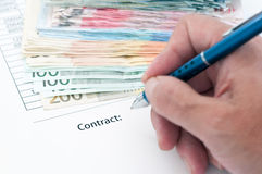 Contract document Stock Images