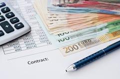 Contract document Stock Photos