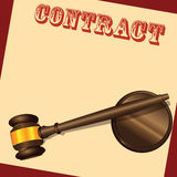 Contract Document Stock Image