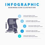 Contract, document, paper, sign, agreement, application Infographics Template for Website and Presentation. GLyph Gray icon with. Blue infographic style vector royalty free illustration