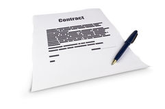 The contract document Stock Photos