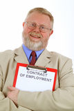 Contract of employment Royalty Free Stock Image