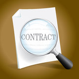Contract Examination. Examining a Contract or Legal Document Royalty Free Stock Image