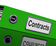Contract File Shows Legal Business Agreements Stock Photos