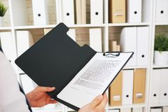 Contract in folder Royalty Free Stock Photography