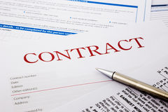 Contract form Royalty Free Stock Photos