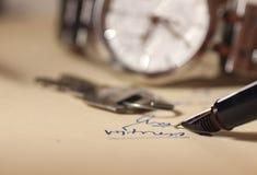 Contract het ondertekenen royalty-vrije stock foto's