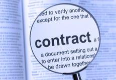 Contract royalty free stock photos