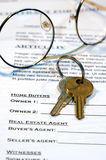 Contract of Home Sale royalty free stock image