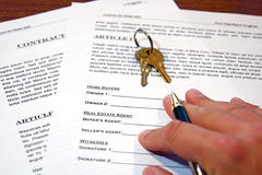 Contract of Home Sale Royalty Free Stock Images