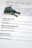 Contract of Home Sale Royalty Free Stock Photography