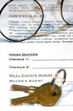 Contract of Home Sale Stock Photo