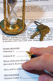 Contract of Home Sale Stock Images