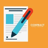 Contract icon Royalty Free Stock Image