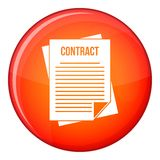 Contract icon, flat style Stock Images