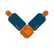 Contract icon. Negotiation of concept. Boss icon and handshake. Business symbol Royalty Free Stock Photography