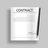 Contract icon. Vector. Royalty Free Stock Photos