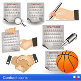 Contract icons. Illustration of a contract icons vector illustration