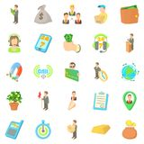 Contract icons set, cartoon style Stock Image