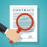 Contract inspection concept. Royalty Free Stock Images