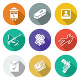 Contract killing profession Icons Set. Vector Illustration. Stock Image