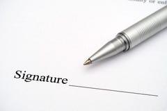 Contract klaar voor handtekening Stock Fotografie