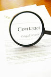 Contract look Stock Photo
