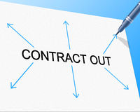 Contract Out Indicates Independent Contractor And Freelance Stock Image