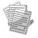 Contract papers and pen icon image Stock Photo