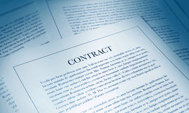 Contract paperwork Stock Image