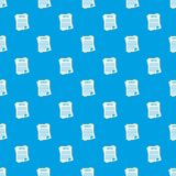 Contract pattern seamless blue Royalty Free Stock Image