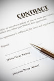 Contract and Pen Royalty Free Stock Image