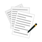 Contract and pen icon image Royalty Free Stock Photos