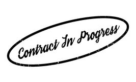 Contract In Progress rubber stamp Royalty Free Stock Photography